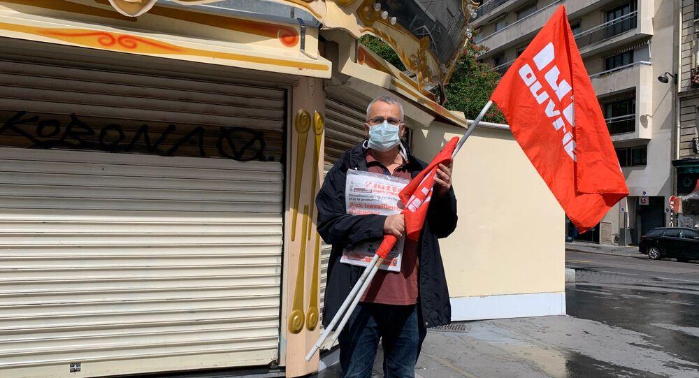 Le 1er mai dans le XVIIIe arrondissement de Paris sur fond d'épidémie du COVID-19
