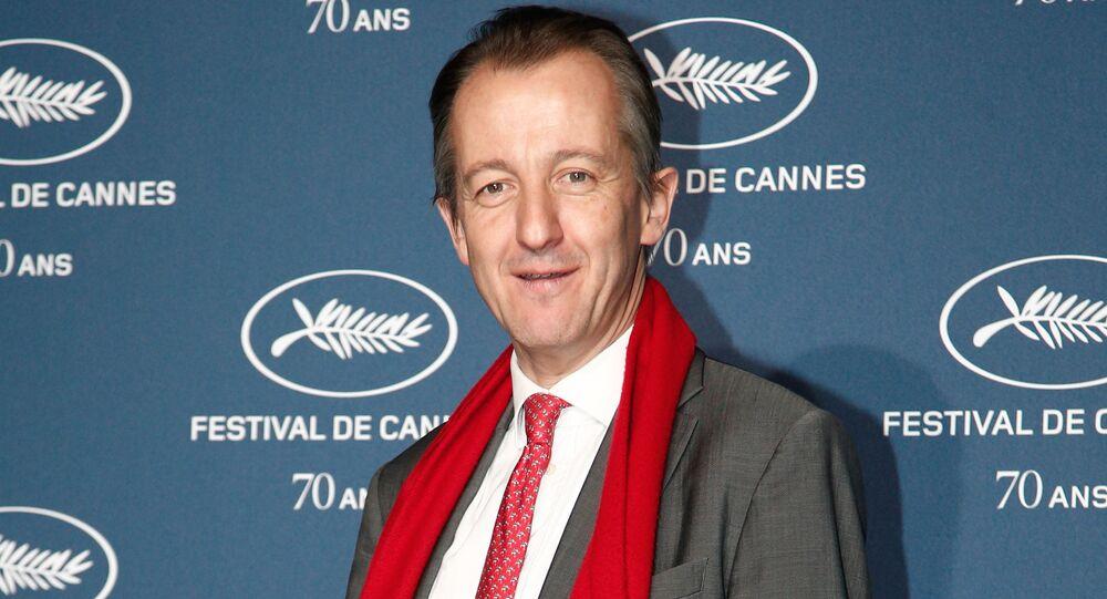 Christophe Barbier pendant le 70e anniversaire du Festival de Cannes