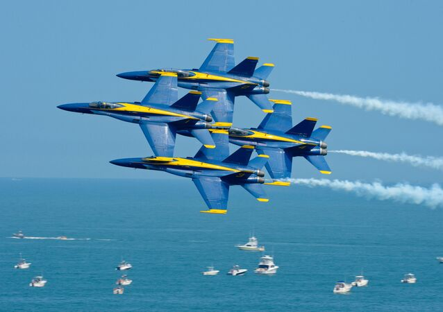 Patrouille acrobatique Blue Angels. Image d'illustration