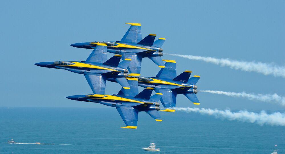 Patrouille acrobatique Blue Angels. Image d'illustration