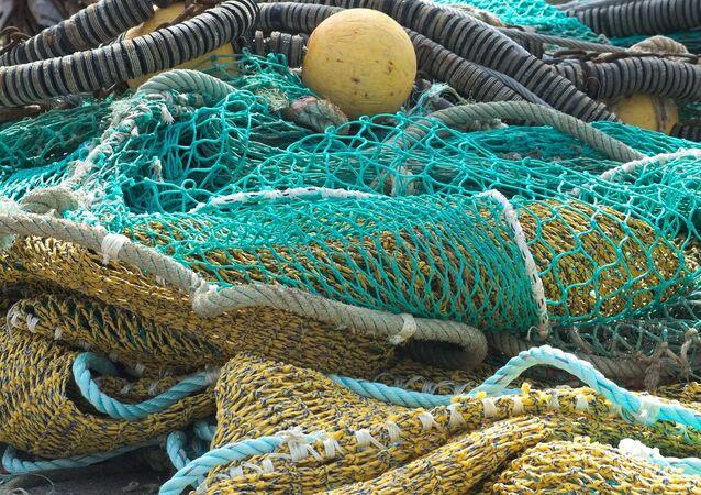 Filets de pêche, image d'illustration