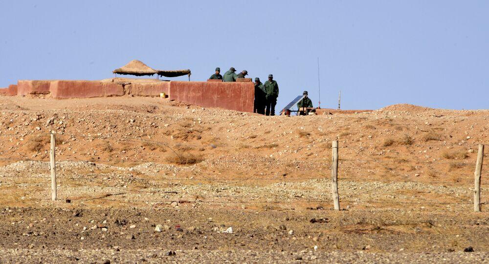 La frontière entre le Maroc et le Sahara occidental