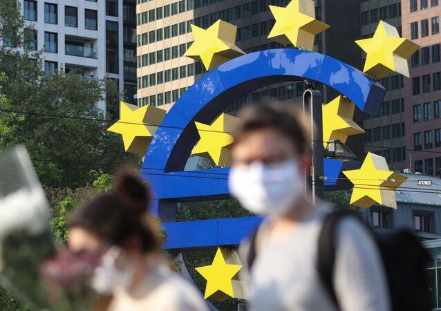 Le siège de la BCE, à Francfort, en avril 2020.