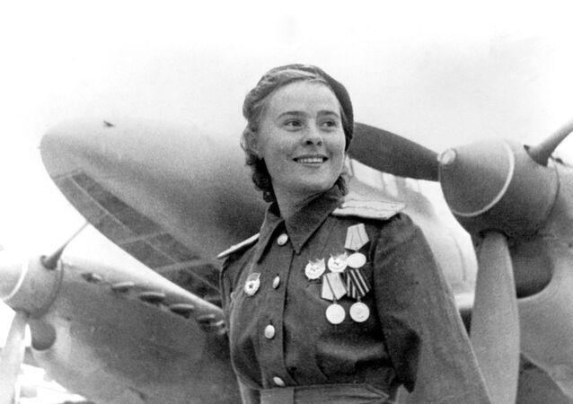 Maria Dolina, aviatrice soviétique, 1944