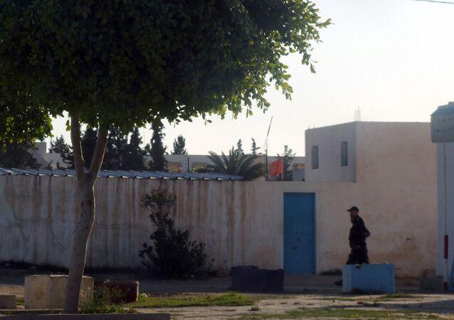 La prison de Kasserine, Tunisie.