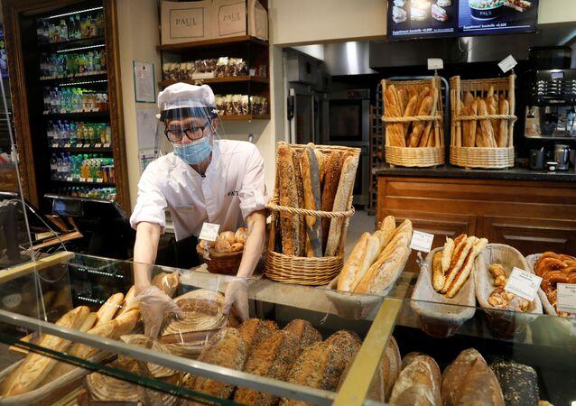 Une boulangerie à Paris, le 5 mai 2020