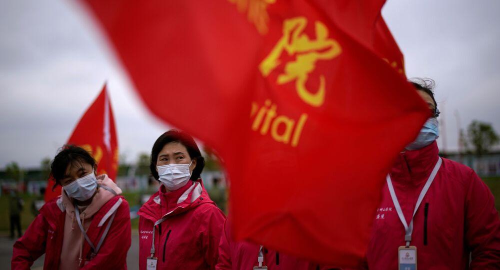 Des médecins d'un hôpital chinois pendant la pandémie de Covid-19