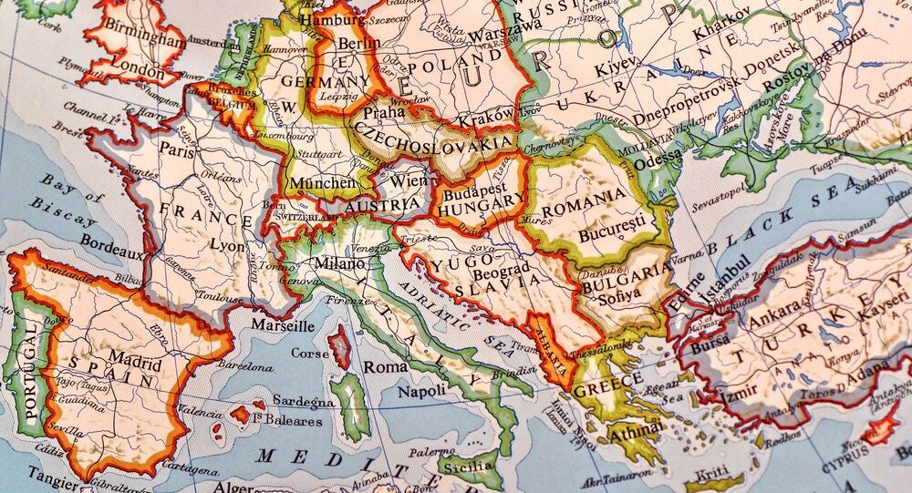 Une carte du monde (image d'illustration)