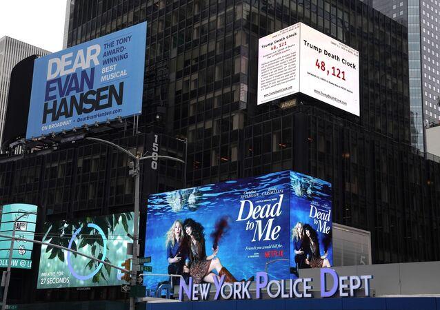 Une «horloge de la mort» à Times Square
