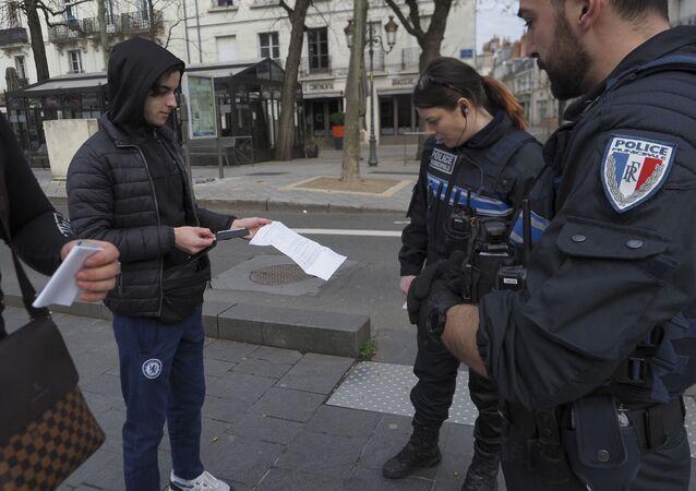 un contrôle de police, image d'Illustration