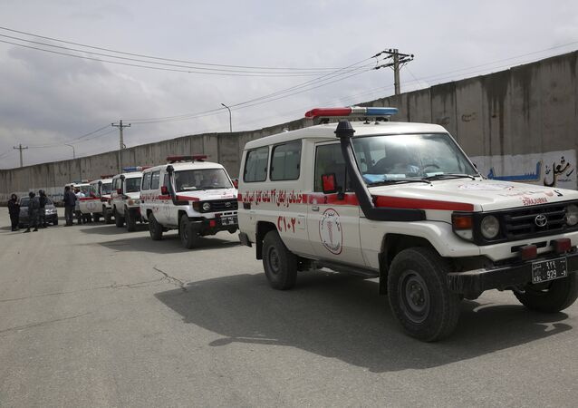 ambulances afghanes, image d'illustration