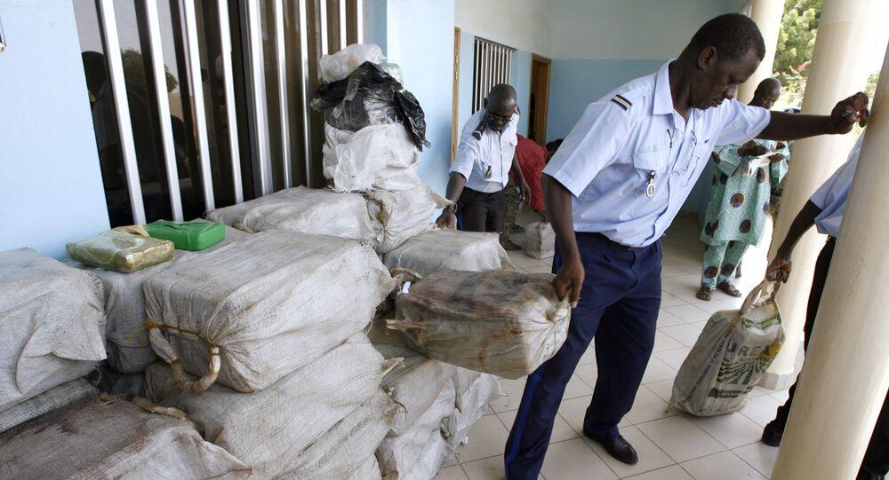 Une saisie de drogue par la police sénégalaise