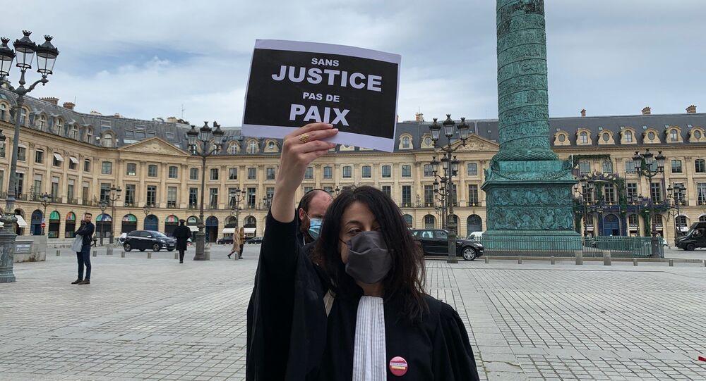 Action d'avocats place Vendôme, 12 mai 2020