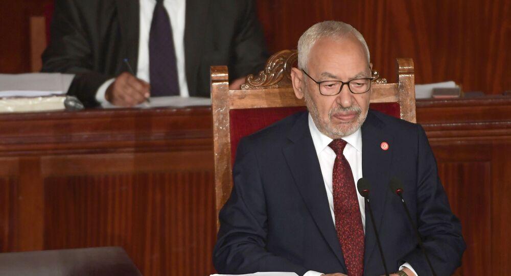Rached Ghannouchi, le président du Parlement tunisien, chef du parti islamiste Ennahdha