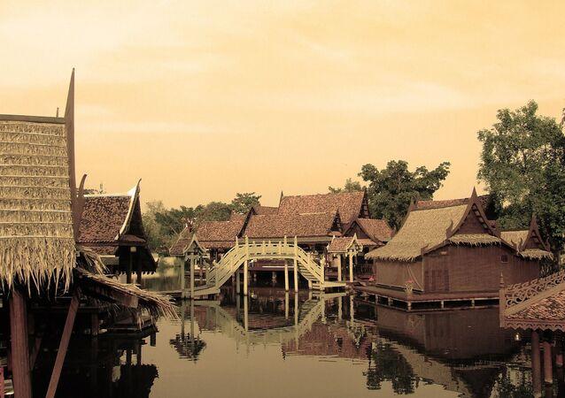 Les maisons en Thaïlande (image d'illustration)