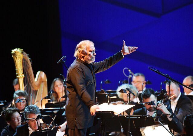 Valeri Guergiev à la cérémonie d'ouverture du VII Forun international culturel