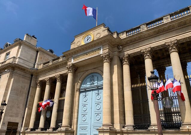 L'entrée de l'Assemblée nationale, photo d'illustration
