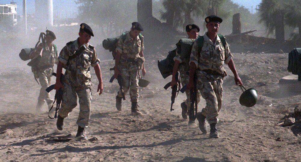 Des soldats de l'armée algérienne.