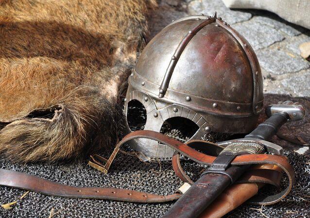 L'armure et les armes d'un chevalier. Image d'illustration