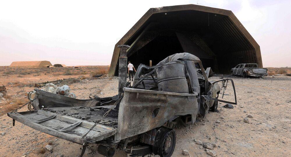 Les forces du GNA ont repris le contrôle de la base aérienne stratégique al-Watiya située à 140 km à l'ouest de Tripoli, le 18 mai 2020.