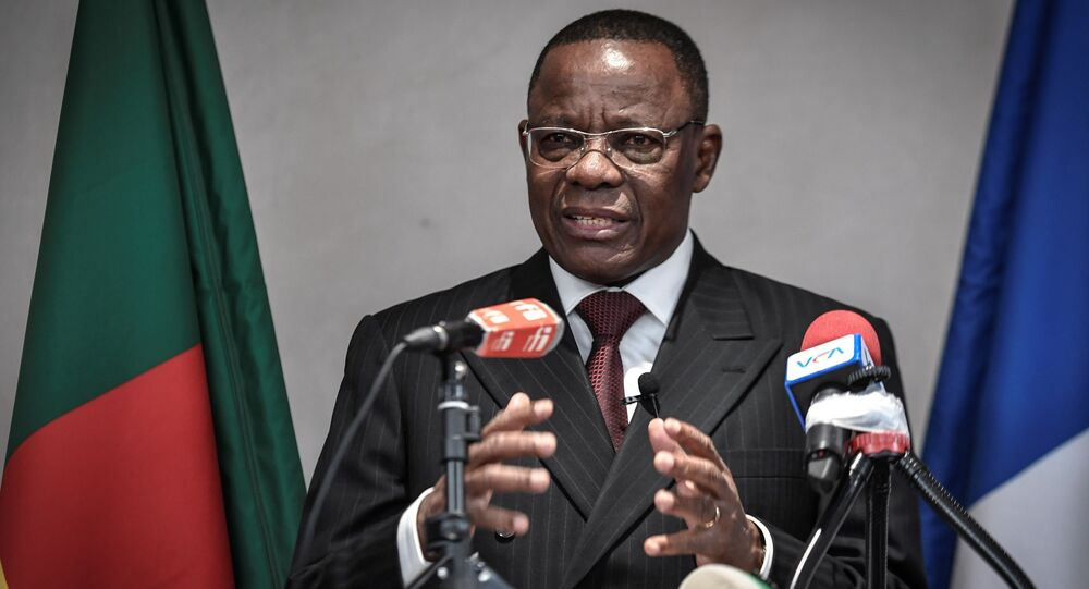 Maurice Kamto, leader de l'opposition camerounaise, lors d'une conférence de presse à Paris le 30 janvier 2020.
