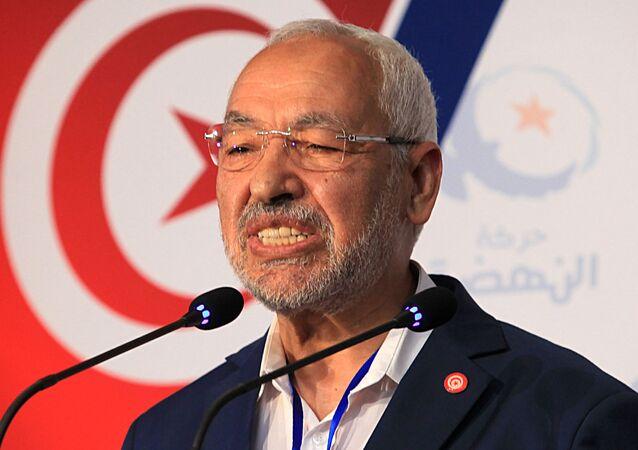 Rached Ghannouchi, leader du parti islamiste tunisien Ennahdha.