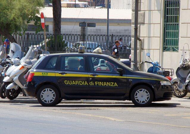 la police douanière et financière italienne, image d'illustration