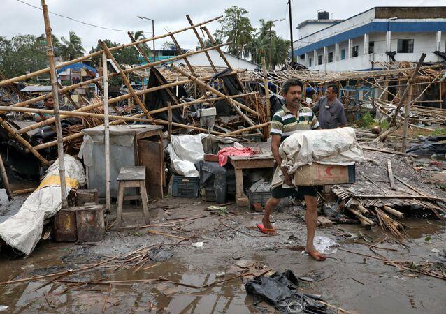 Le cyclone Amphan en Inde
