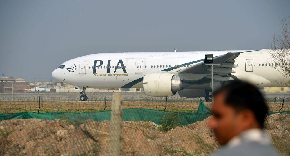 Un avion de Pakistan International Airlines, la photo prise en 2016
