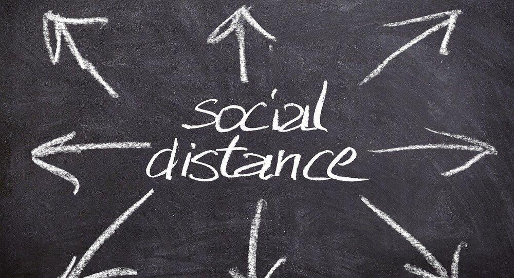 Distance sociale, image d'illustration