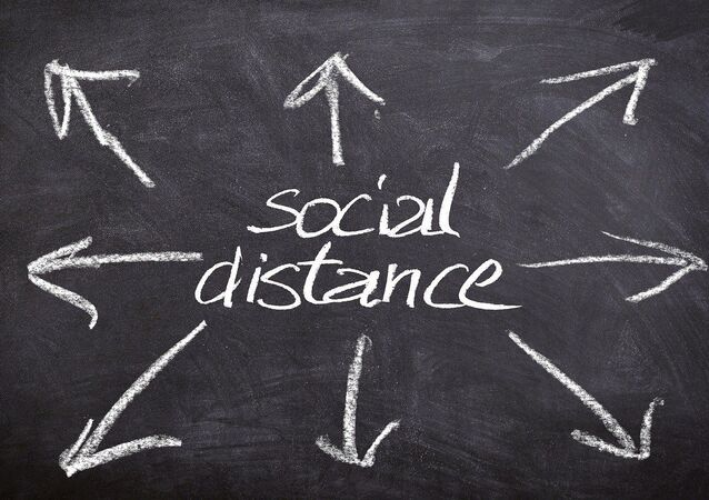 Distance sociale, image d'illustration