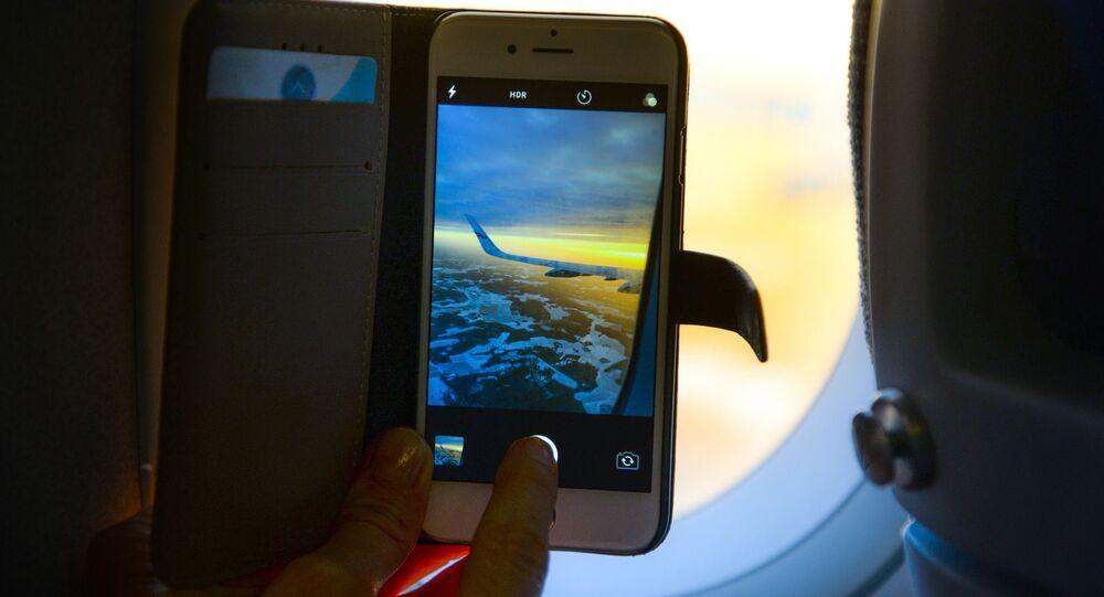 Smartphone dans l'avion