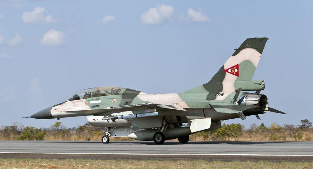Un F-16B vénézuélien