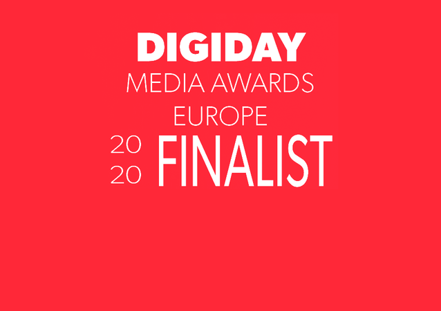 Digiday Media Awards Europe Finalist
