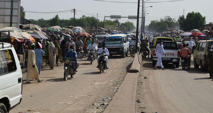 Le marché de Diguel réouvert à N'Djamena au Tchad, situé dans la commune du 8ème arrondissement