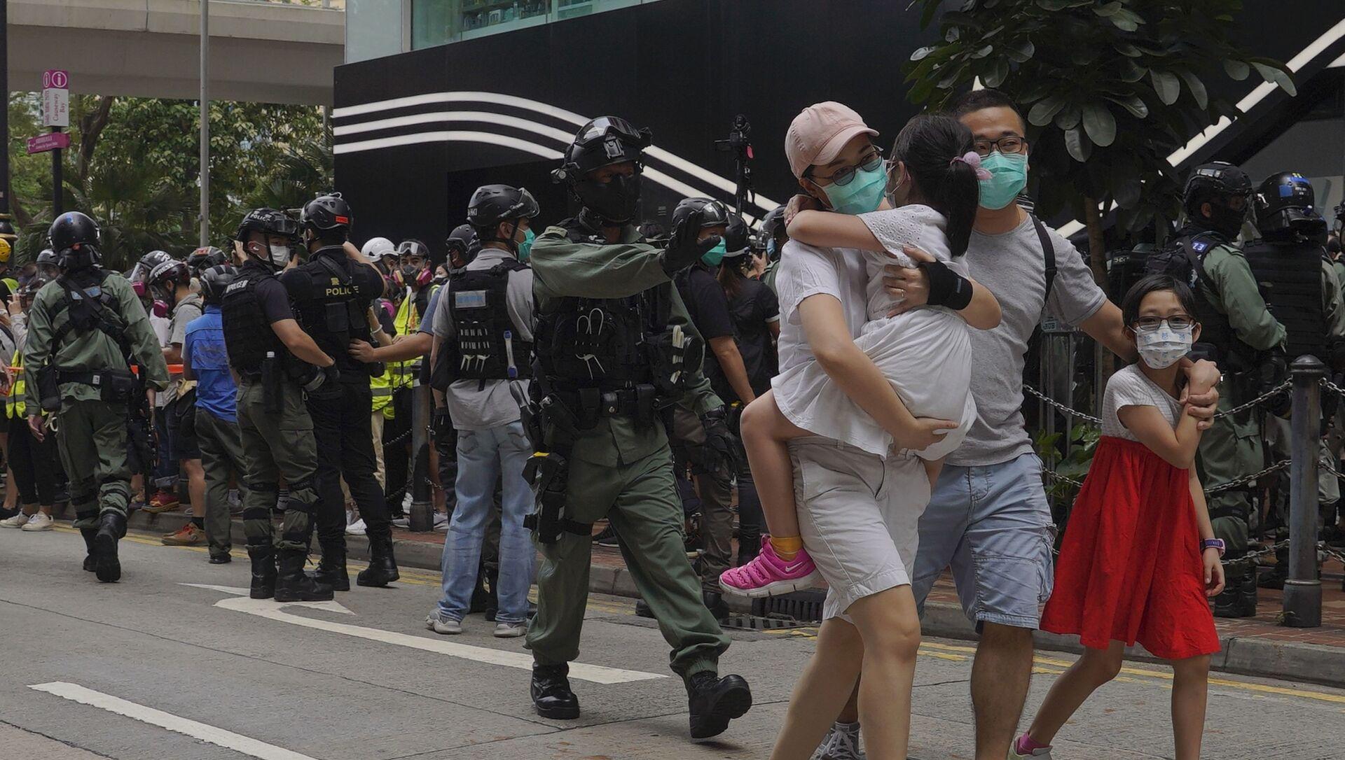 La police de Hong Kong a arrêté des manifestants - Sputnik France, 1920, 08.09.2021