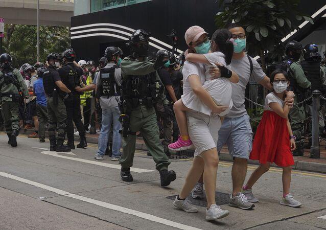 manifestations à Hong Kong
