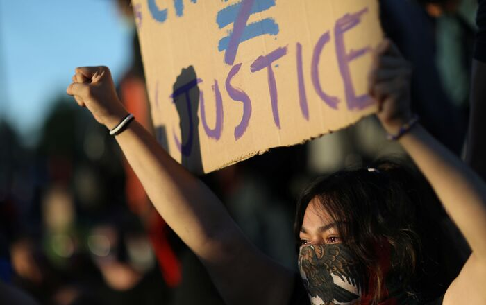 les protestations contre le meurtre de George Floy, image d'illustration