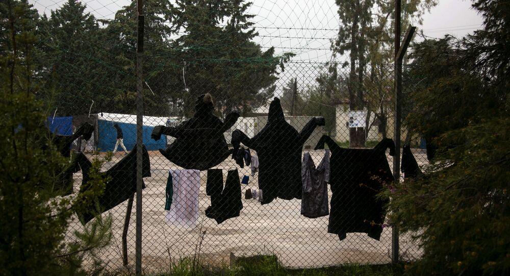 Le camp de migrants de Malakasa, en Grèce