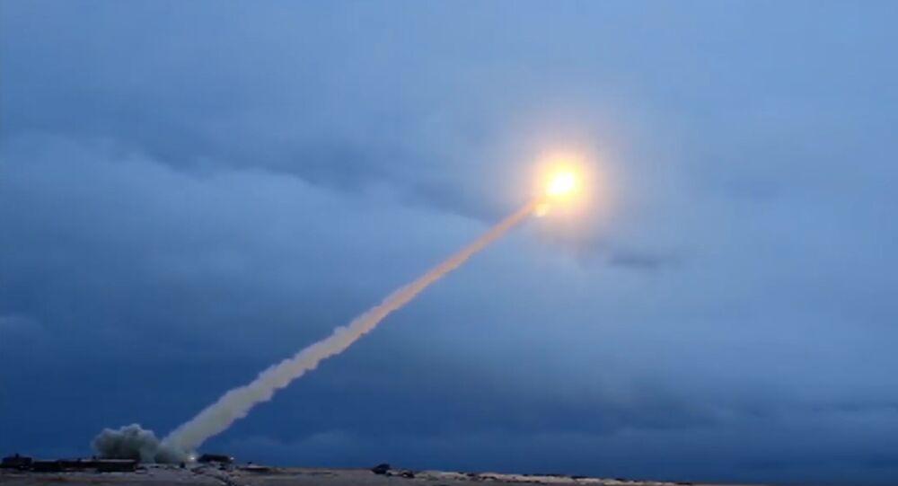 Test du missile russe Bourevestnik