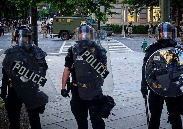 Des policiers US