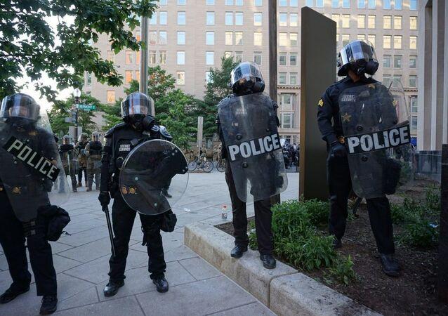 La police déployée à Washington