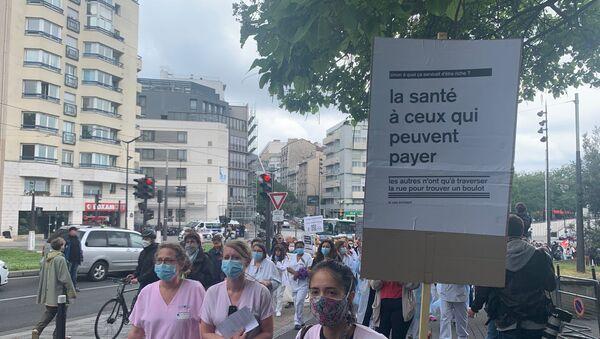 Manifestation personnel soignant - Sputnik France