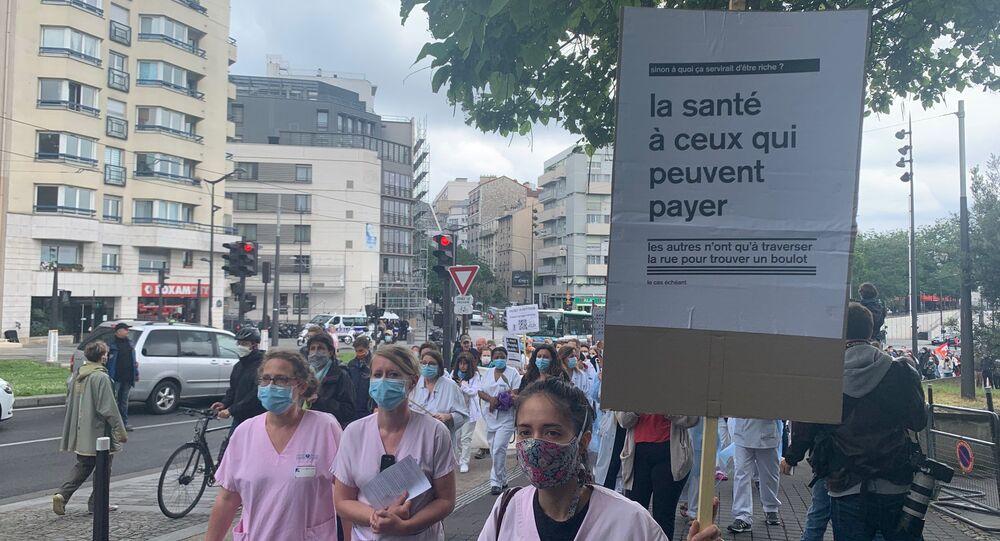 Manifestation personnel soignant