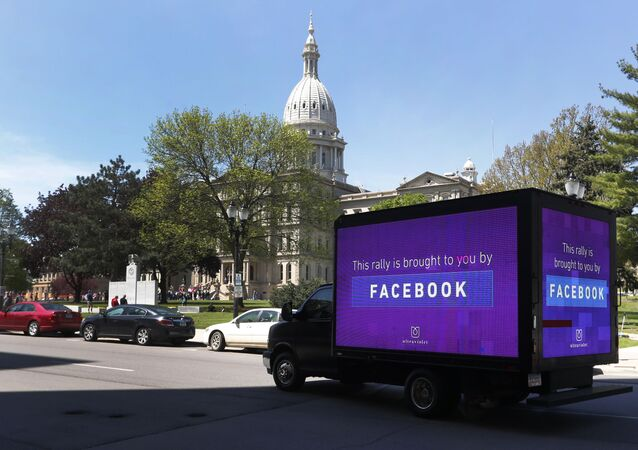 Une camionnette publicitaire Facebook (photo d'illustration)