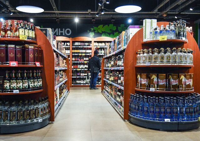 Un magasin d'alcool, image d'illustration