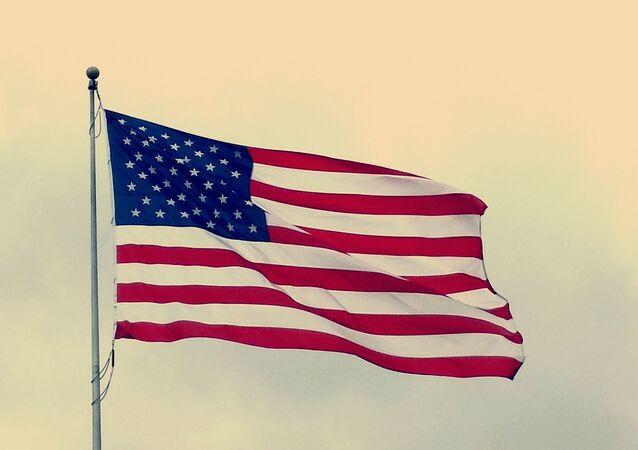 Un drapeau américain (image d'illustration)