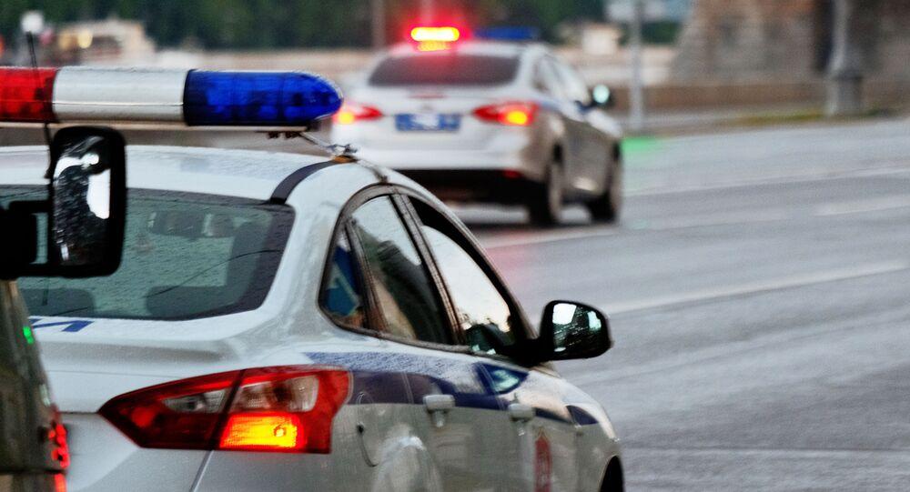 Véhicules de police à Moscou