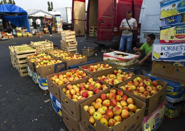 Le marché Privoz à Simferopol, en Crimée