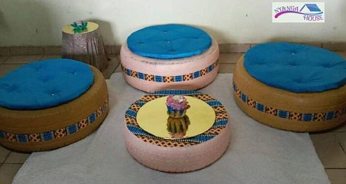 Des créations d'Émilie Mbarga,  Nyanga house